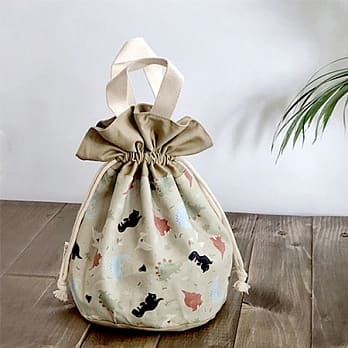 baby-fairBesovida Cotton Canvas Meal Bag (Dinosaur / Brown)