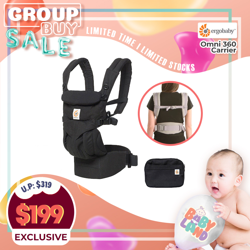 Ergobaby Omni 360 Baby Carrier (PURE BLACK)!