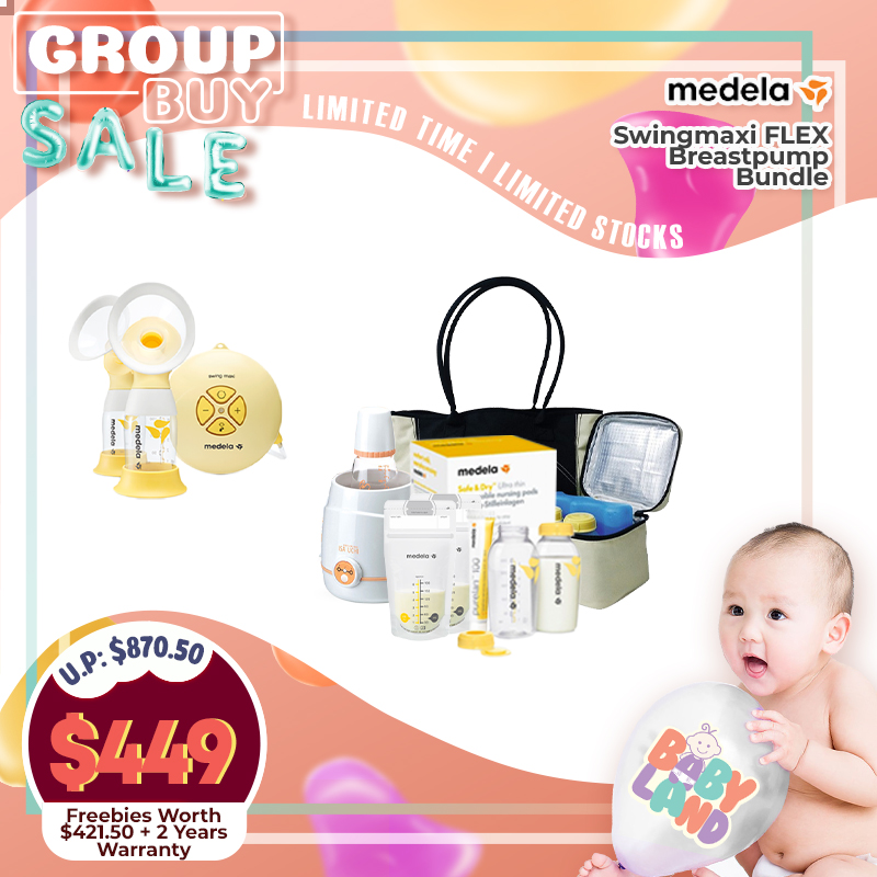 (2020 AWARD WINNER) Medela Swingmaxi FLEX Double Electric Breastpump (Sterilizer + Warmer + Breastpump Bag  + Free 2 Years Warranty + Many More Gifts)