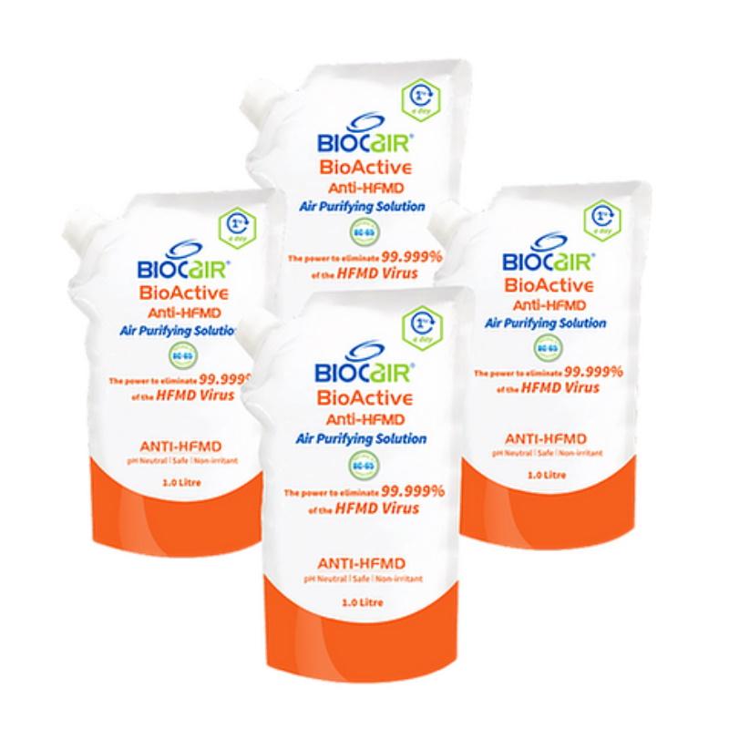 baby-fair BioCair BioActive Anti-HFMD Air Purifying Solution (1L) - 4 Pack Bundle