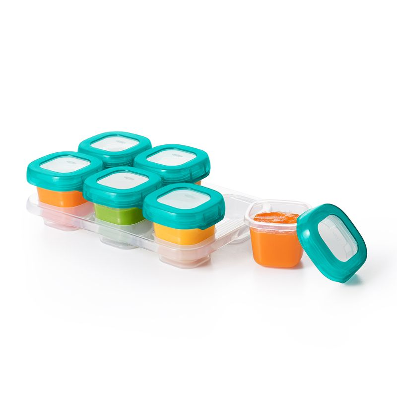 Baby Fair | OXO TOT Baby Blocks Freezer Storage Containers 2oz - Teal