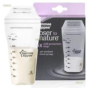 Tommee Tippee Closer to Nature 36pk BreastMilk Storage Bags 350ml (Bundle of 2)
