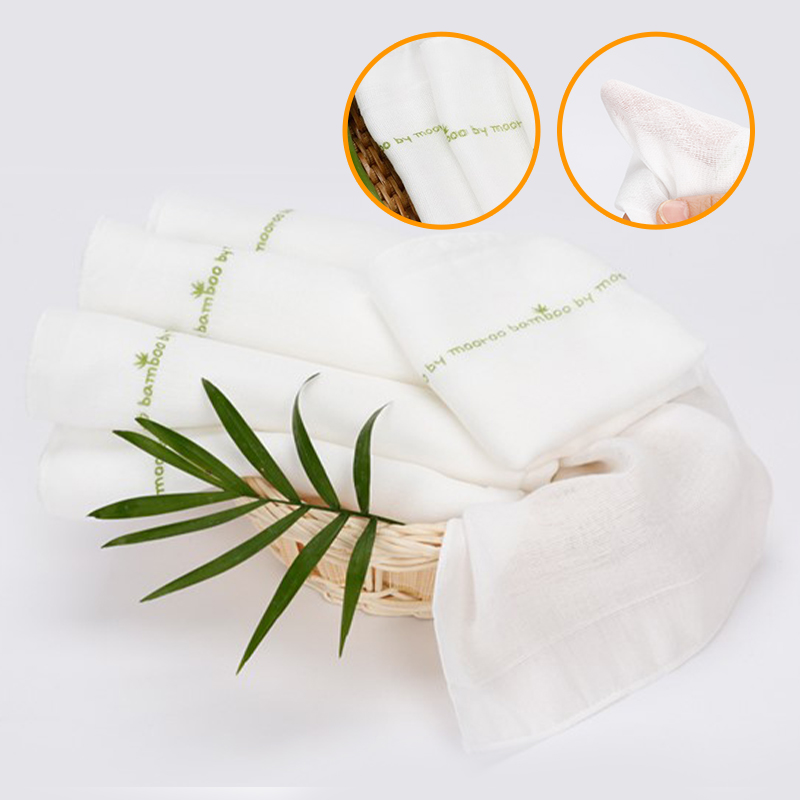 baby-fairMooroo Bamboo Mouth Handkerchief (Bundle of 6 Pcs)