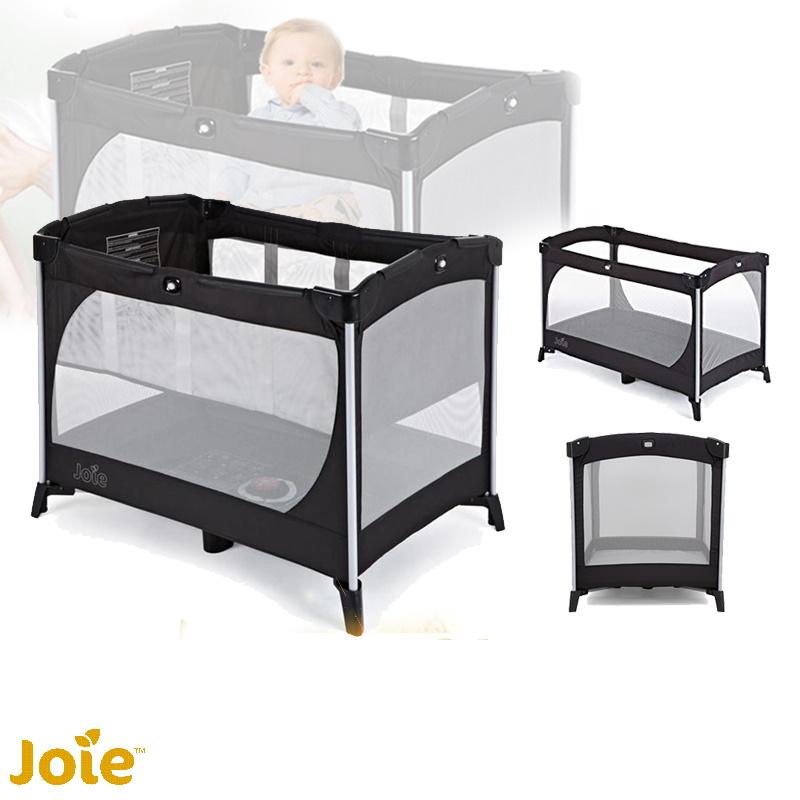 baby-fairJoie Allura Travel Cot Playpen (Black) + Free 1 Year Warranty