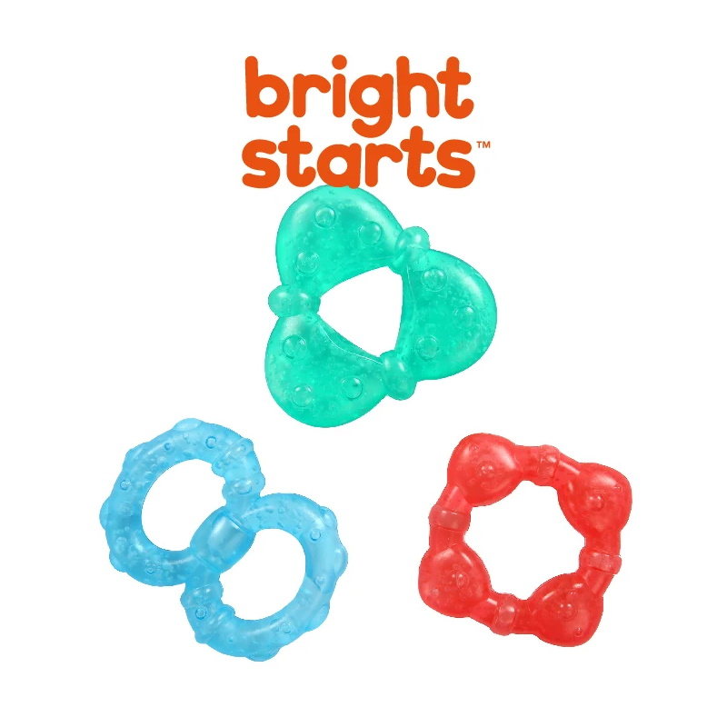 baby-fair Bright Starts Stay Cool Teethers Gel-Filled 3 Pack (BS11798)
