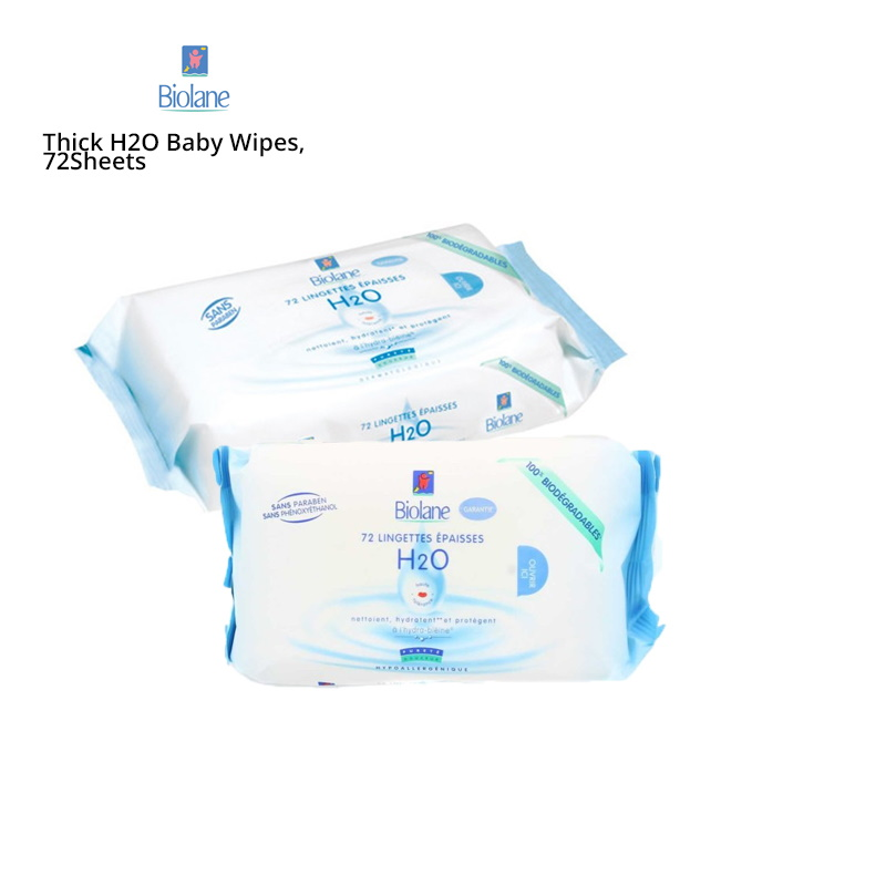 baby-fairBiolane Thick H2O Baby Wipes (72 Sheets)