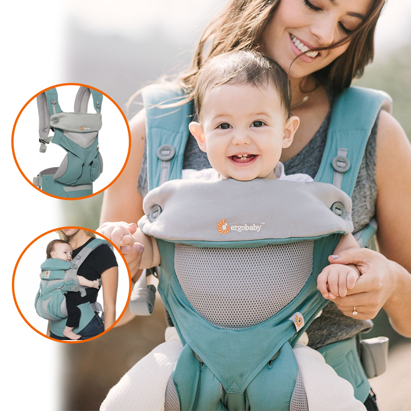 Baby Fair | Ergobaby Carrier 360 Cool Air Mesh (Icy Mint)