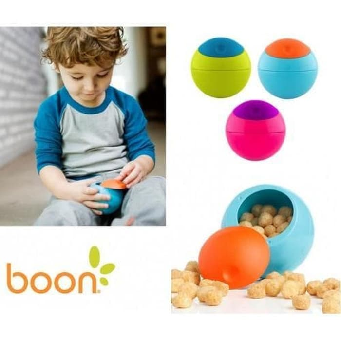 baby-fair Boon Snack Ball Container (Asst Colour) Bundle of 3pcs