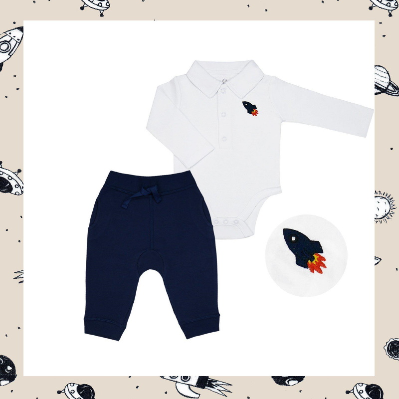 baby-fair LittleBBLove Bodysuit and Pants Set (Space Exploration)