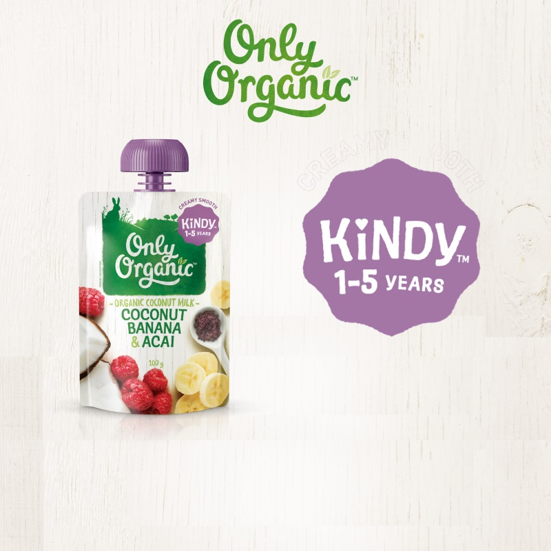 ONLY ORGANIC COCONUT BANANA & ACAI 100G