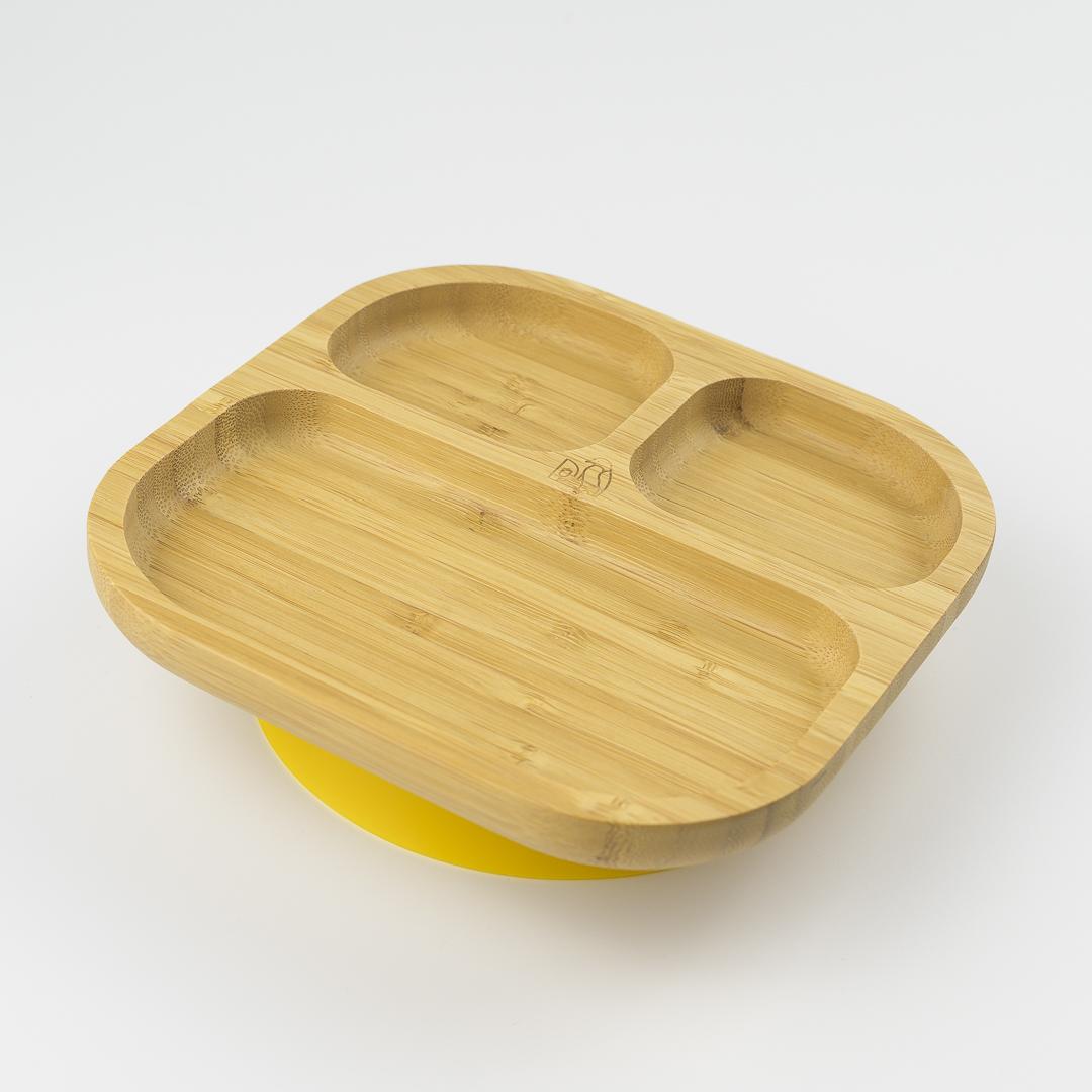 baby-fair *Preorder - ETA end of April* MCK Bamboo Plate - Yellow