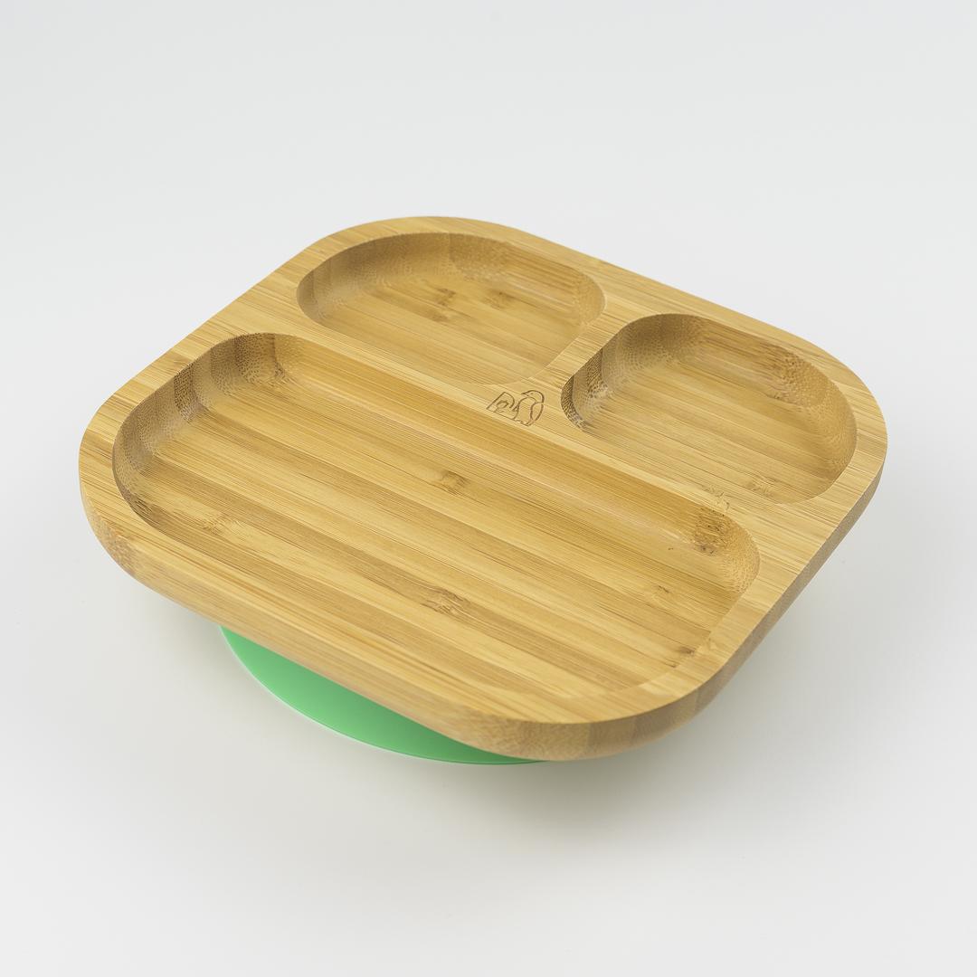 baby-fair*Preorder - ETA end of April* MCK Bamboo Plate - Green