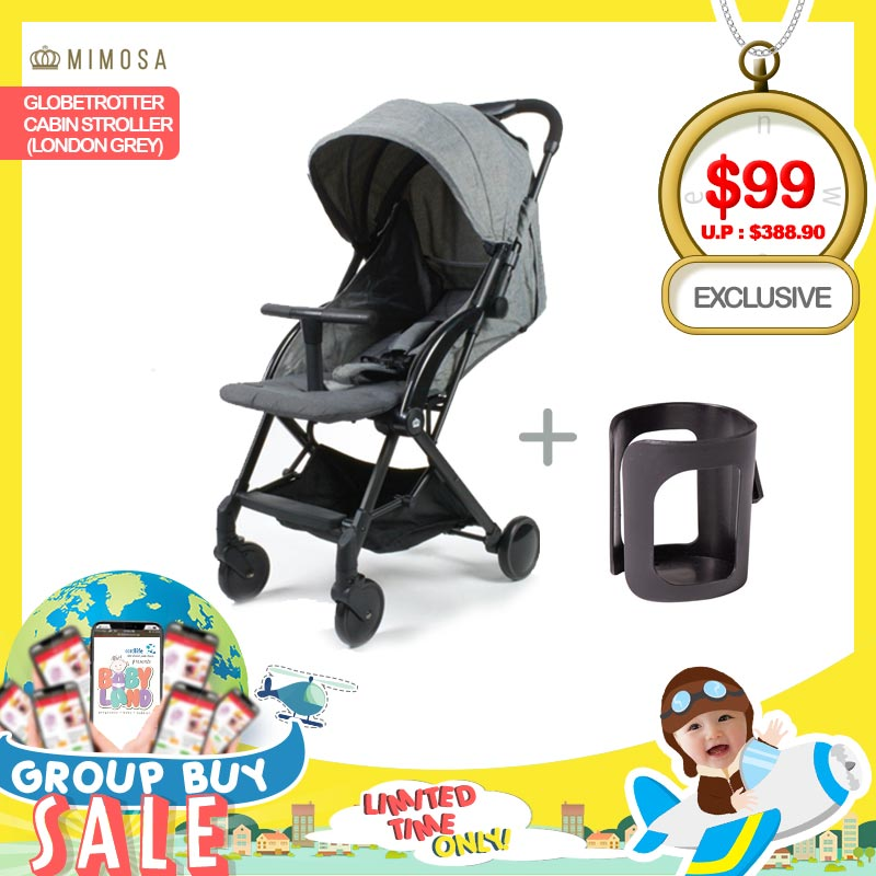 baby-fairMimosa Globetrotter Travel Stroller FREE Cup Holder (LIMITED SETS!!)