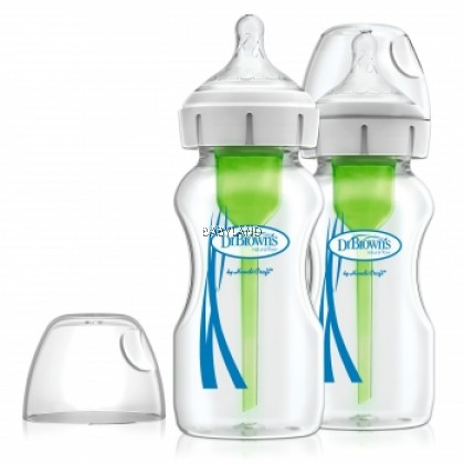 baby-fairDr Brown's 9oz/270ml Wide Neck Options+ Bottle, 2pack
