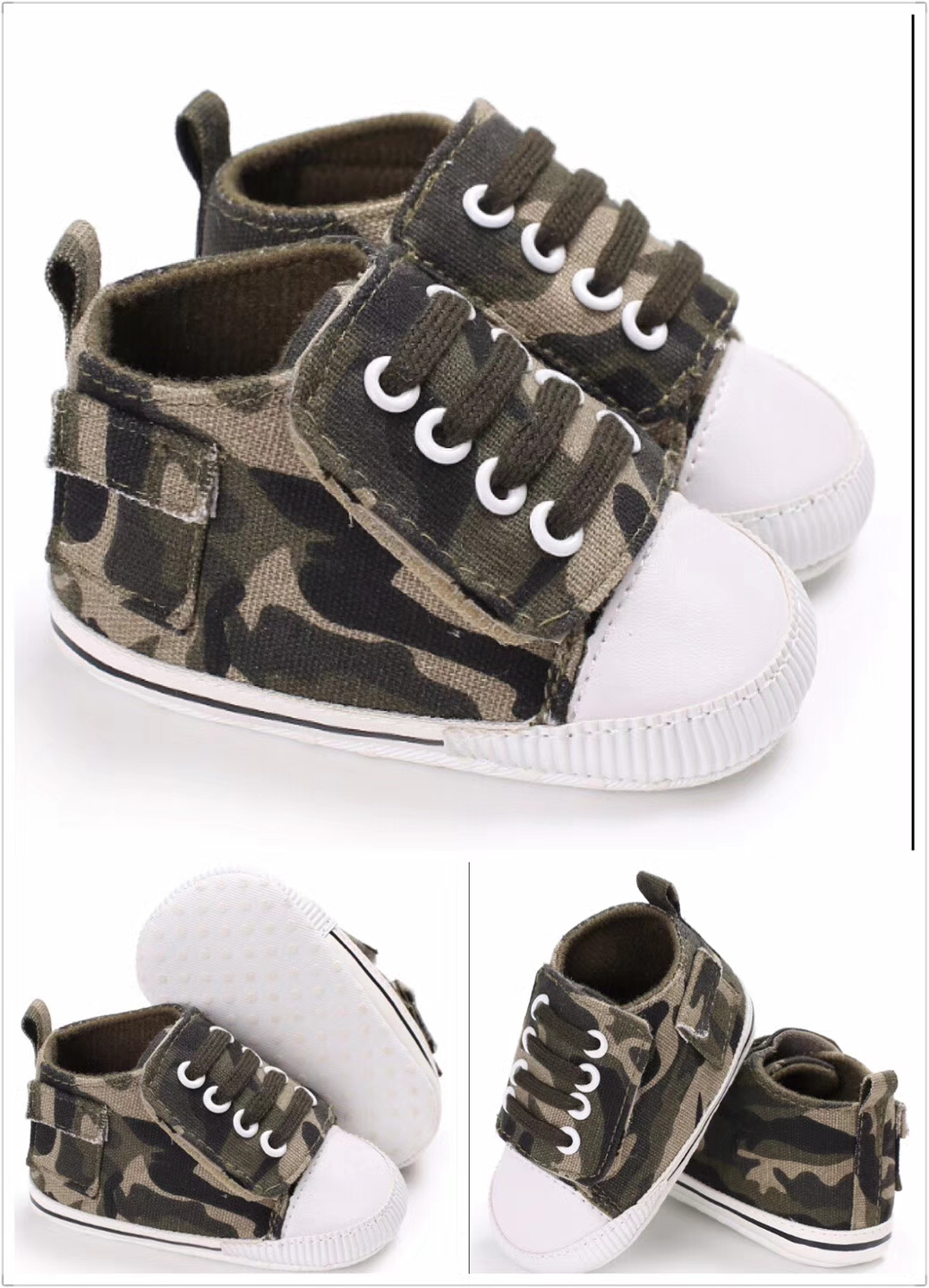 baby-fairEmmanuel Baby Boy Sofe Sole Shoes - Camouflage (0-15M)