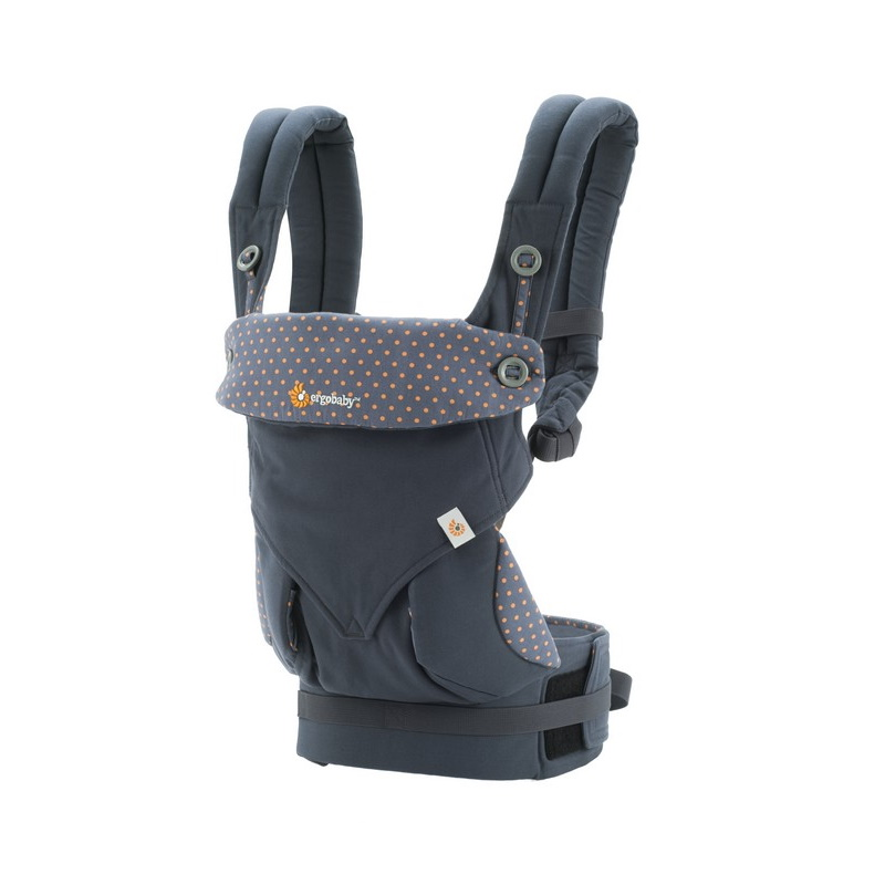 baby-fairErgobaby 360 4Position Baby Carrier (Dusty Blue + Teething Pad)