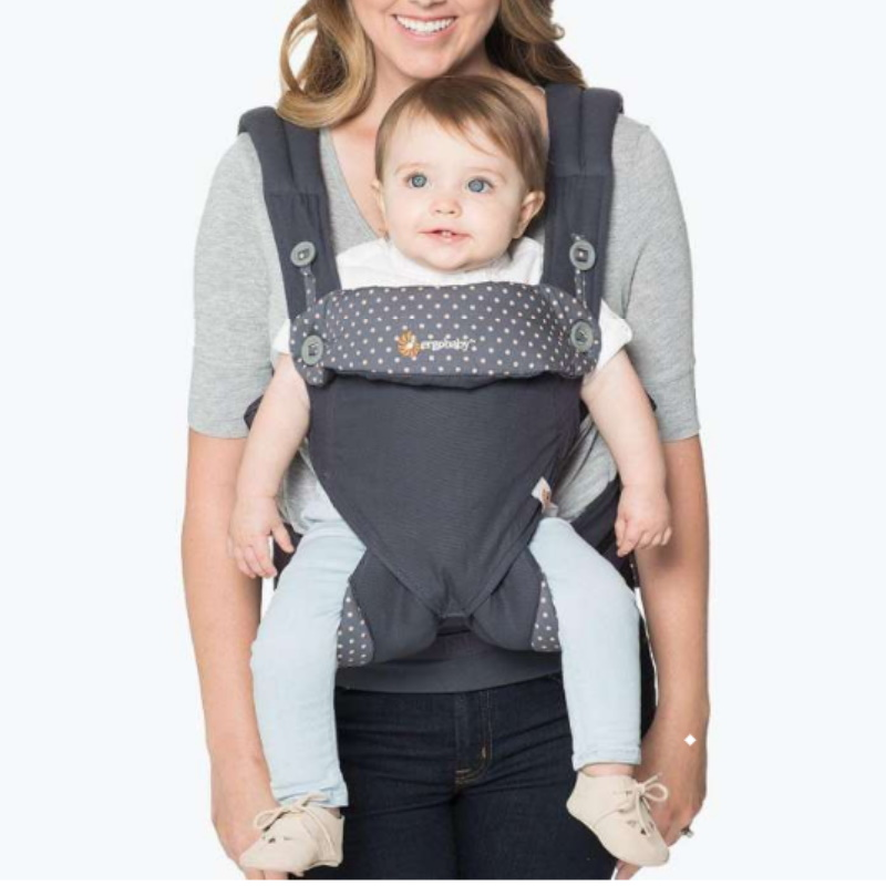 baby-fair Ergobaby 360 4Position Baby Carrier (Dusty Blue + Teething Pad)