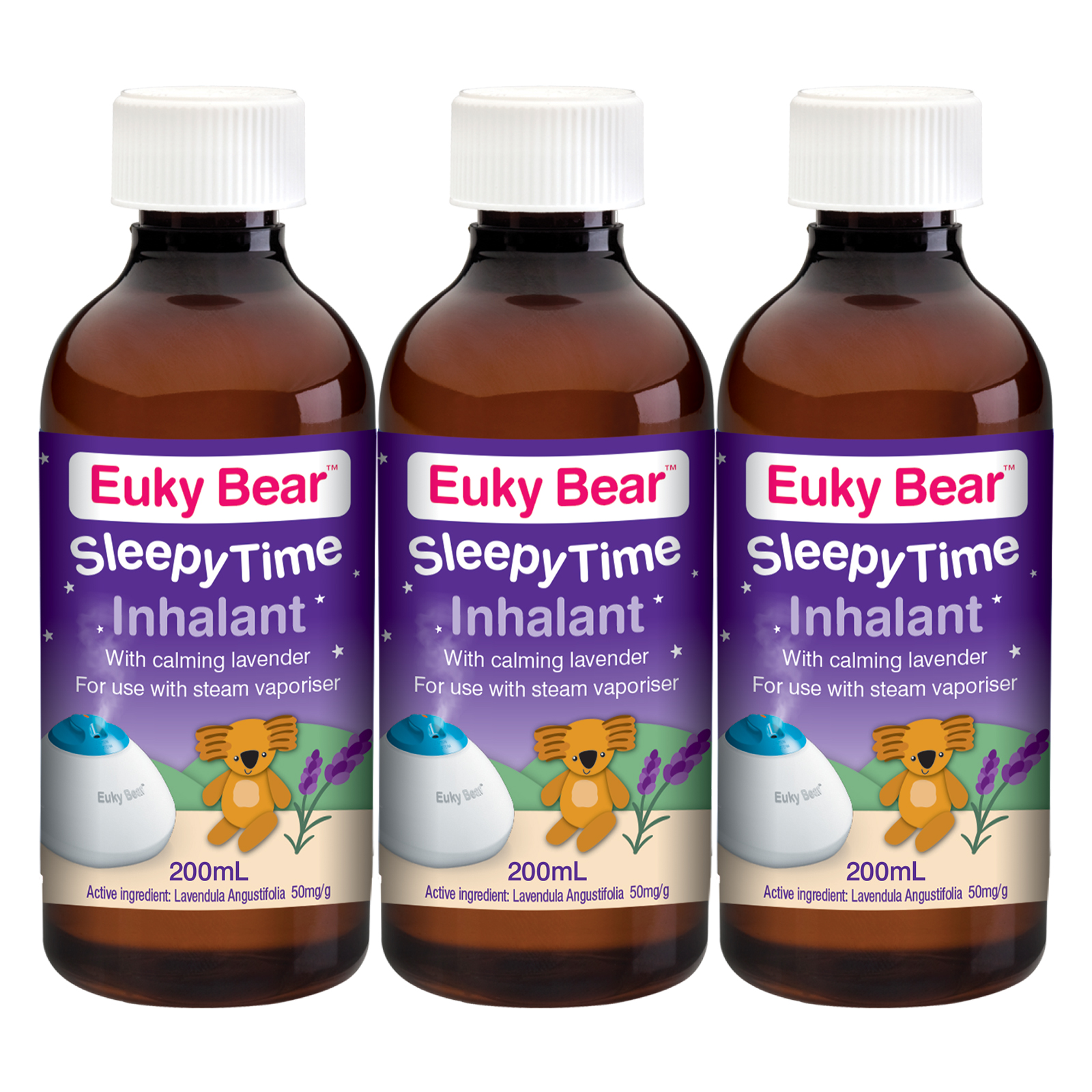 baby-fairEuky Bear Sleepy Time Inhalant 200ml (Bundle of 3)