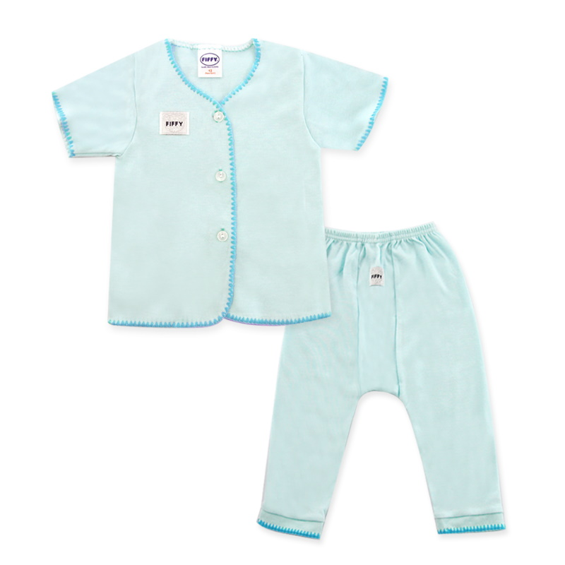Fiffy Basic Wear (Blue) Short Sleeve / Long Pants Size 3-6 (F65078-BS)