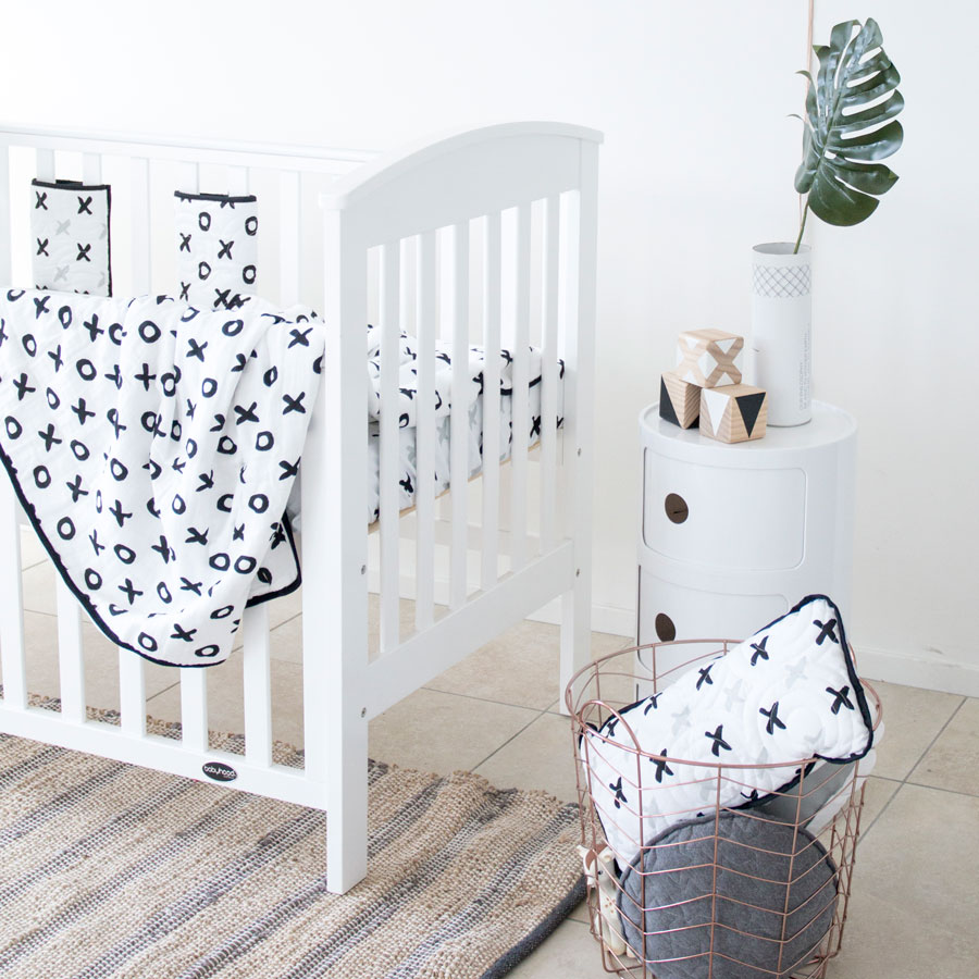 Babyhood Classic Curve Cot 4in1 (White) + My First Innerspring Mattress