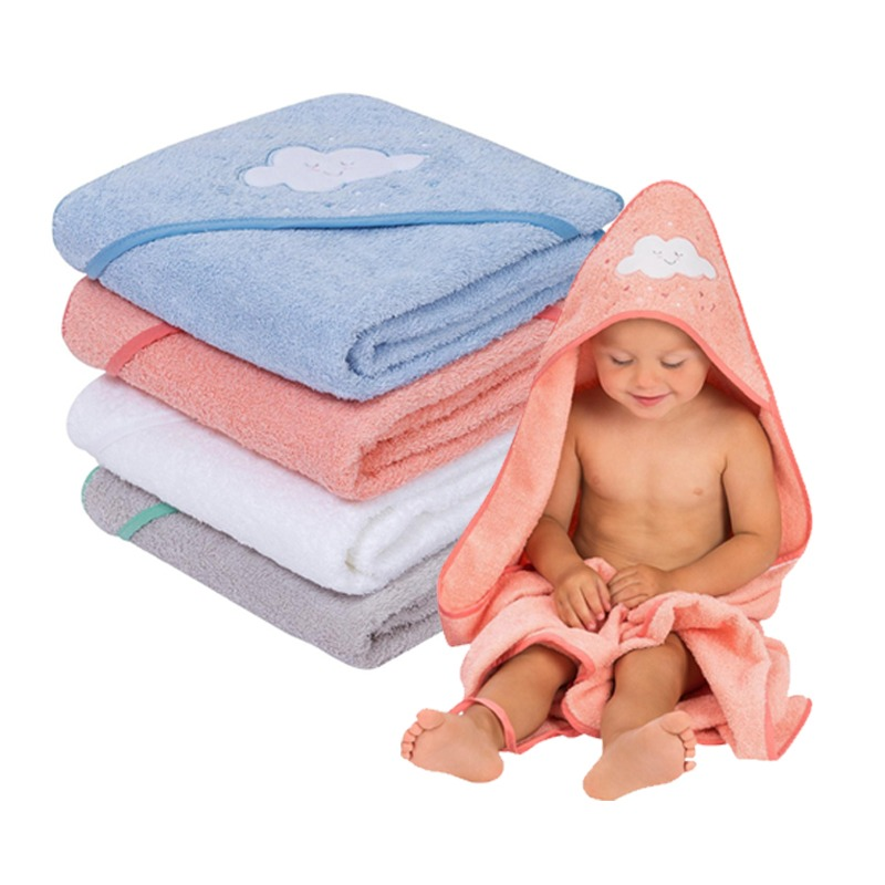 Clevamama Cotton Hooded Baby Bath Towel (Asst Colors!!) BUY 1 GET 1 FREE!!
