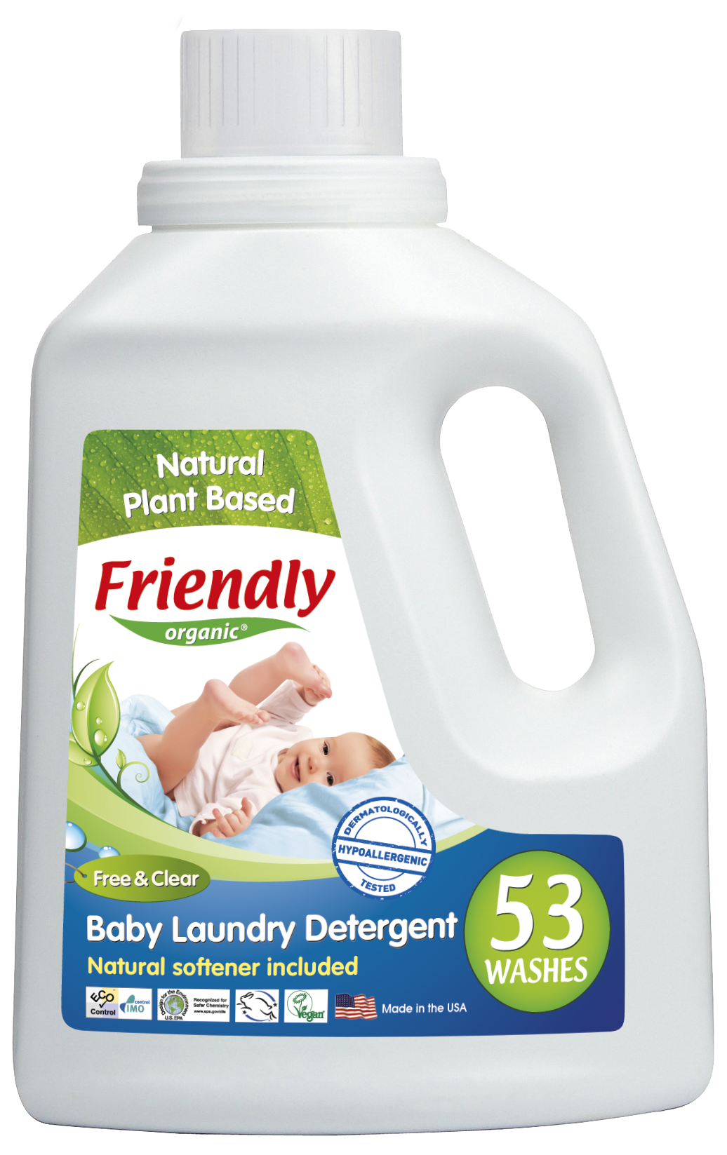 Friendly Organics Baby Liquid Detergent - Perfume Free 2L (40wash)