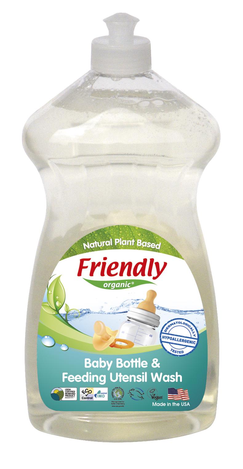 Friendly Organics Baby Bottle & Feeding Utensil Wash - Fregrance Free (750ml)