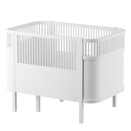 baby-fair Sebra Bed Baby & Jr. (White) + Classic Mattress Bundle