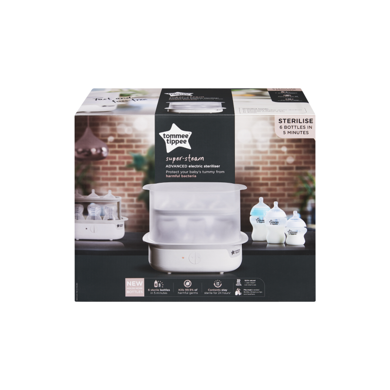 Tommee Tippee Electric Sterilizer (White - The Clash)