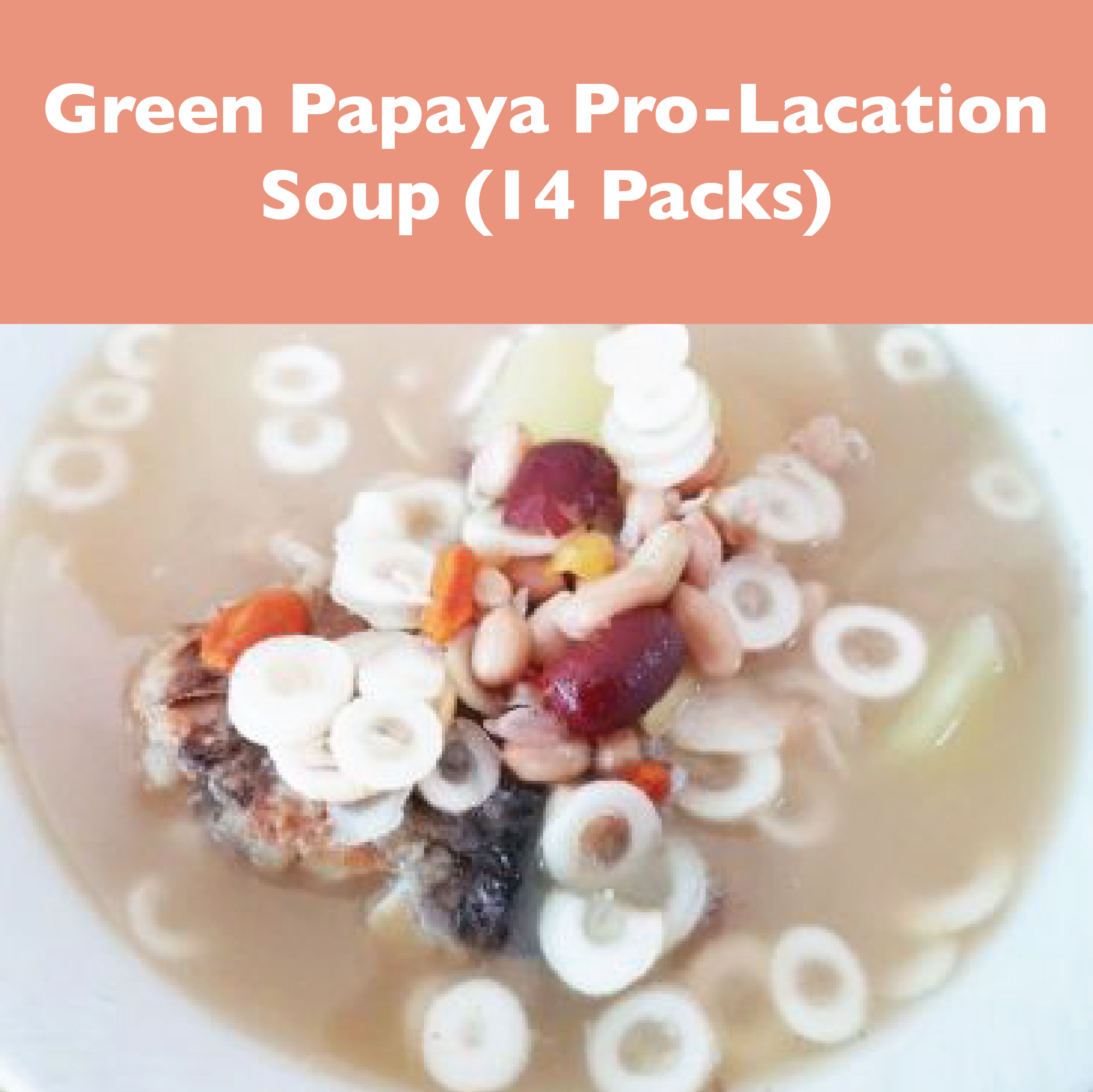 Madam Partum Green Papaya Pro-Lactation Soup Bundle (Pack of 14)