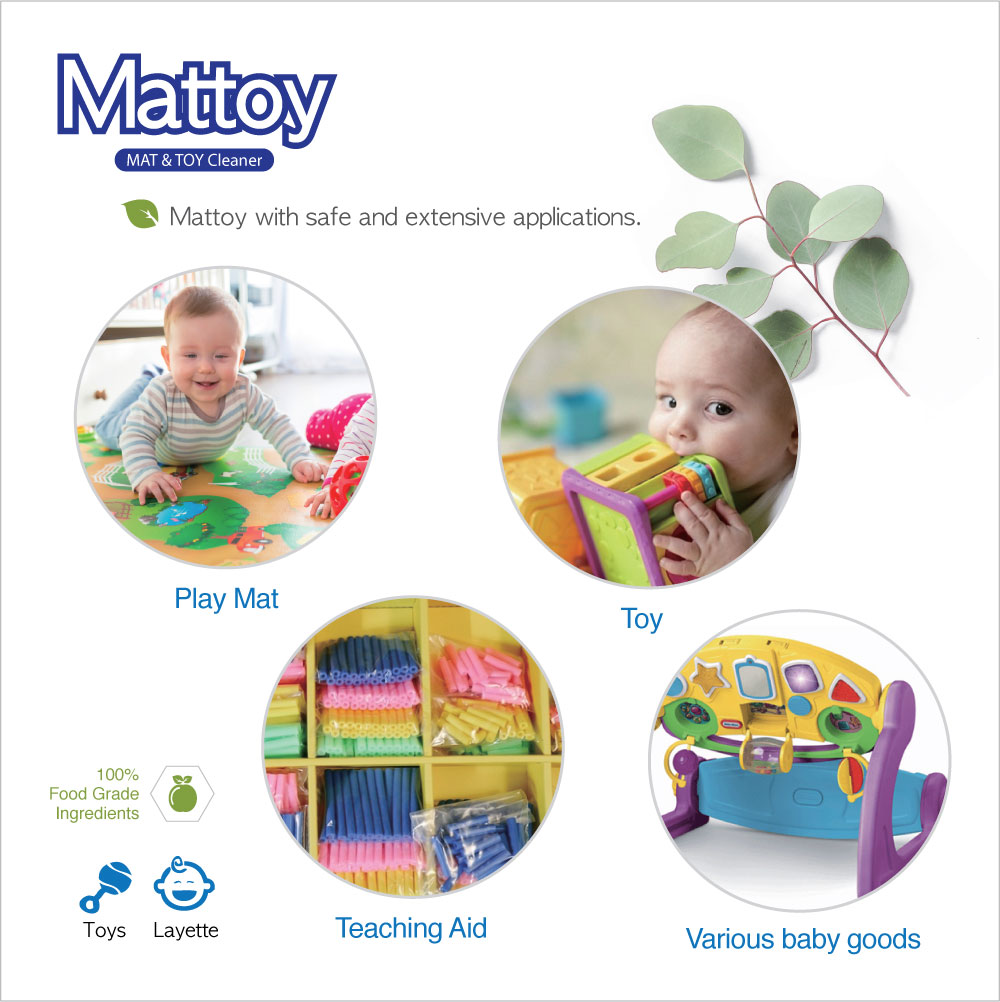 Mattoy Playmat and Toy Cleanser 250ml Twin Pack