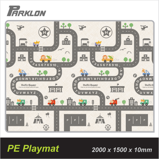 baby-fair Parklon PE Roll Playmat Simple Road (200x150cm)