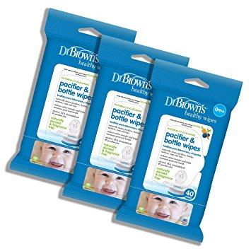 baby-fairDr Brown's Pacifier & Bottle Wipes (40pcs) Bundle of 3