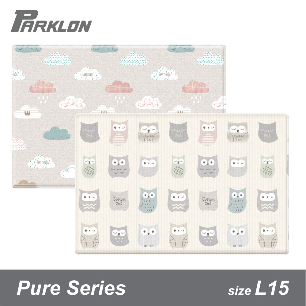 baby-fair(Coming Soon) Parklon Bumper Playmat PURE Cotton Owl Cloud Bebe L15