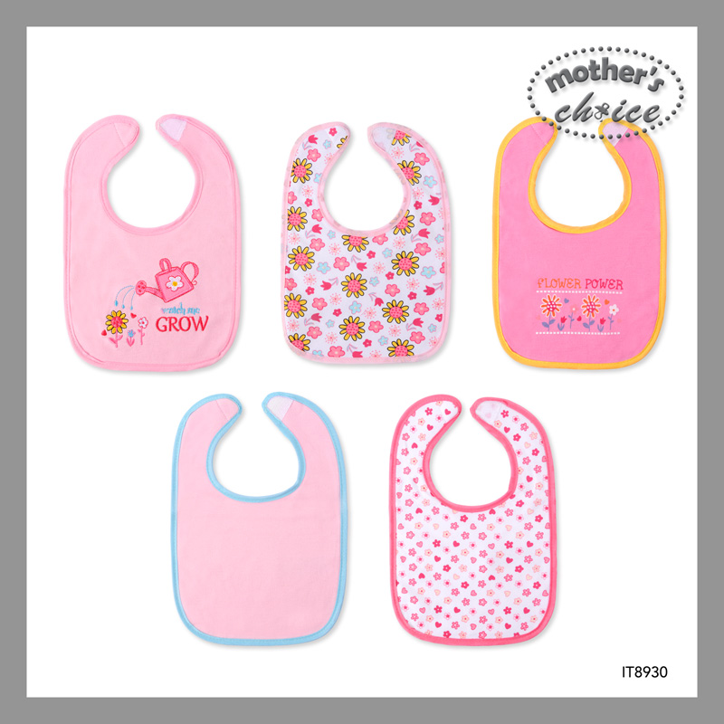 baby-fair Mother's Choice Cotton Baby Bibs - 5 pcs