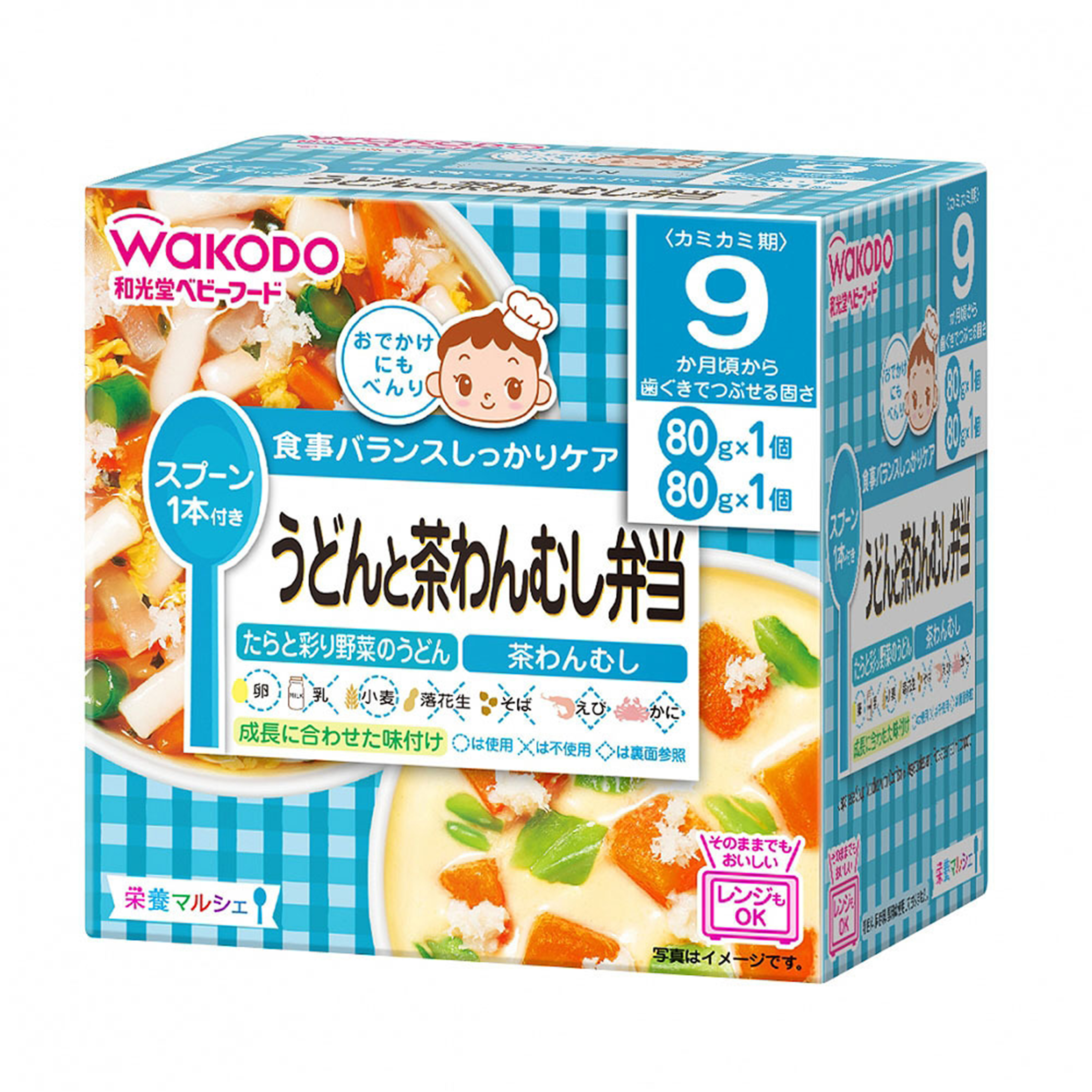 baby-fair WAKODO Japanese Soup Noodles With Codfish And Vegetables And Pot-Steamed Hotchpotch (Bundle of 4)