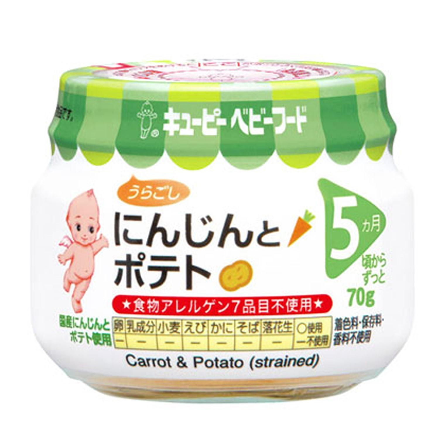 baby-fairKEWPIE A-12 CARROT & POTATO (STRAINED)
