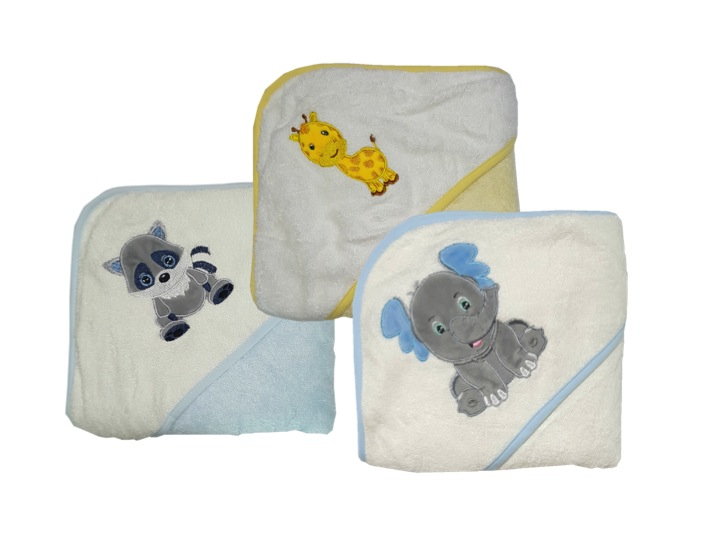 Award Winning 100% Bamboo Kids Bath Towels/Hooded Towels (Bundle of 3)