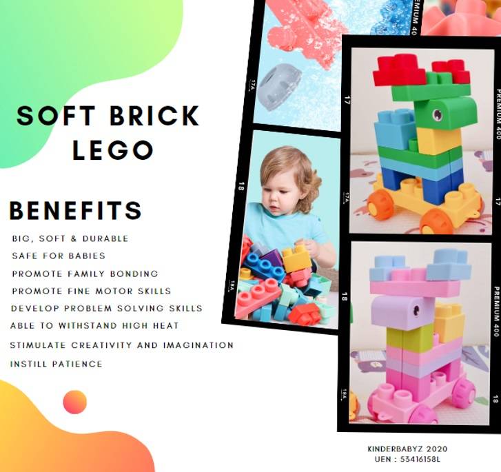 baby-fair KinderbabyZ Soft Brick Lego in a container