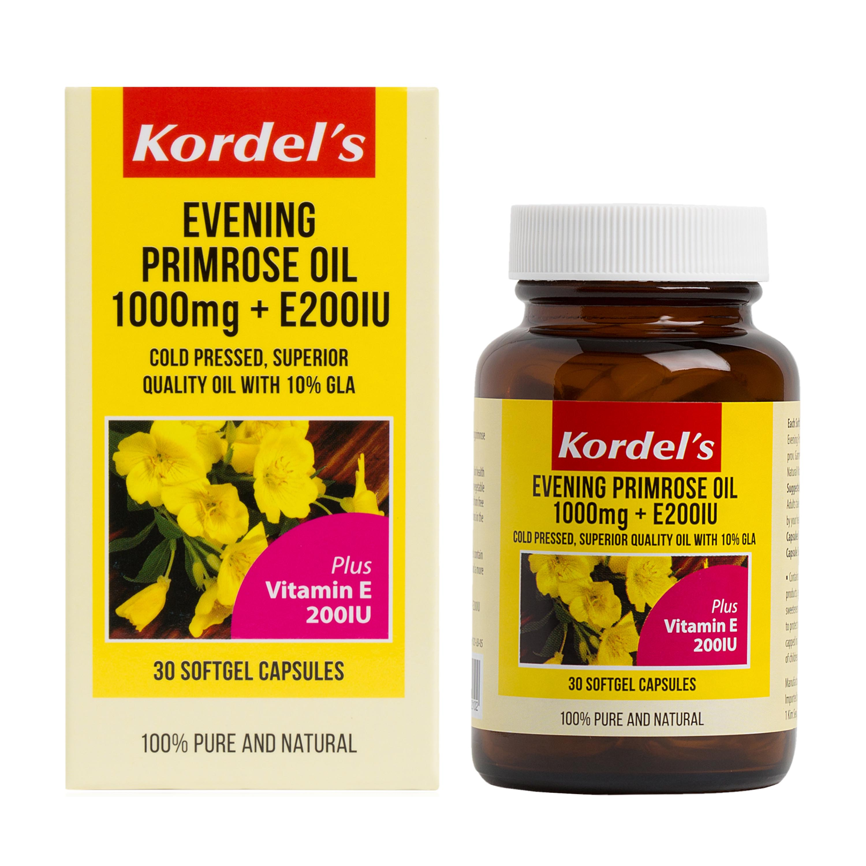 baby-fairKordel's Evening Primrose Oil 1000mg + E 200IU 30's
