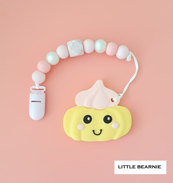 Little Bearnie Baby Teething Clip Set - Gem Biscuit *Order ships every Tuesday