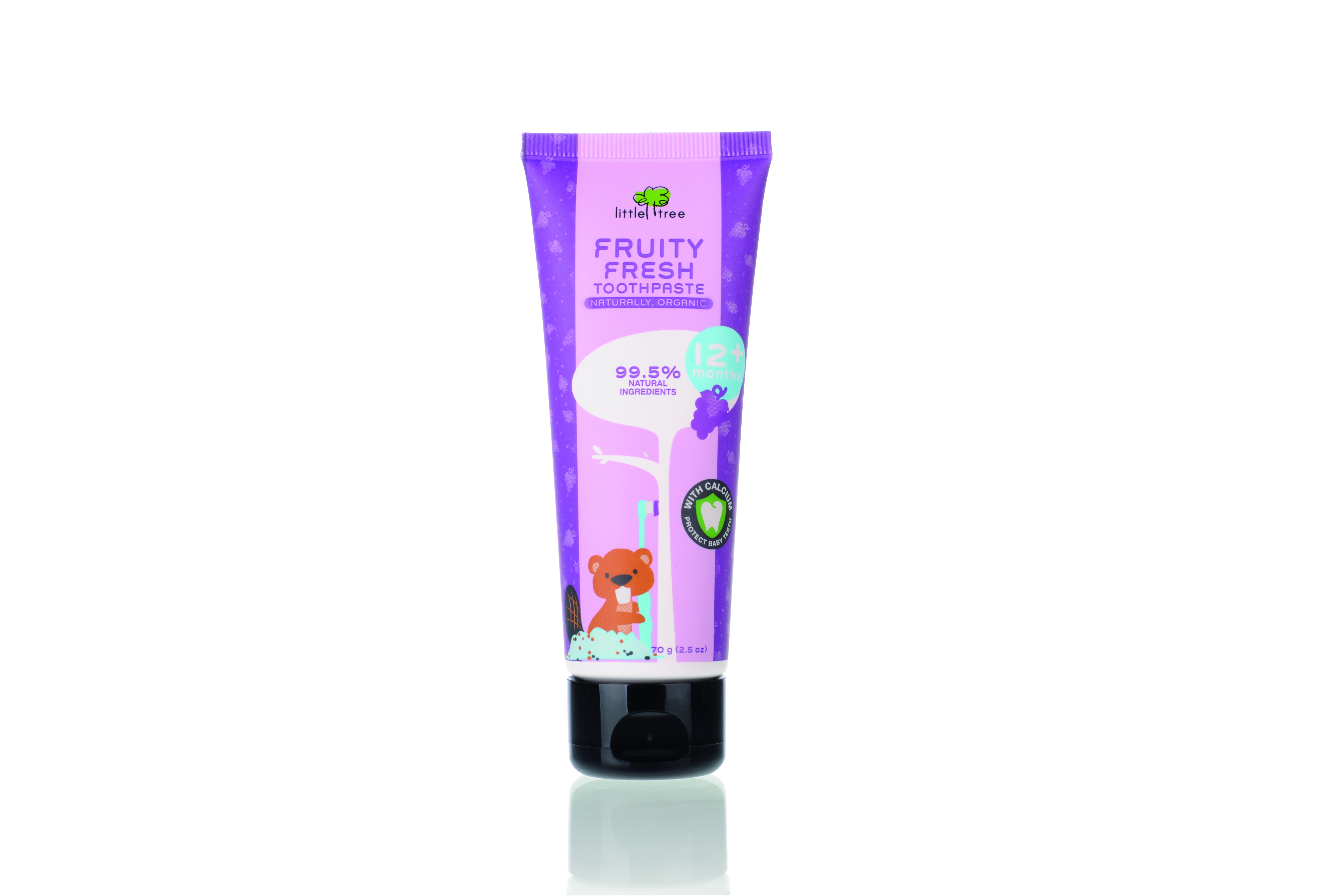 baby-fairLittle Tree Fruity Fresh Toothpaste  -12+months (Grape) 70ml - Bundle Of 2