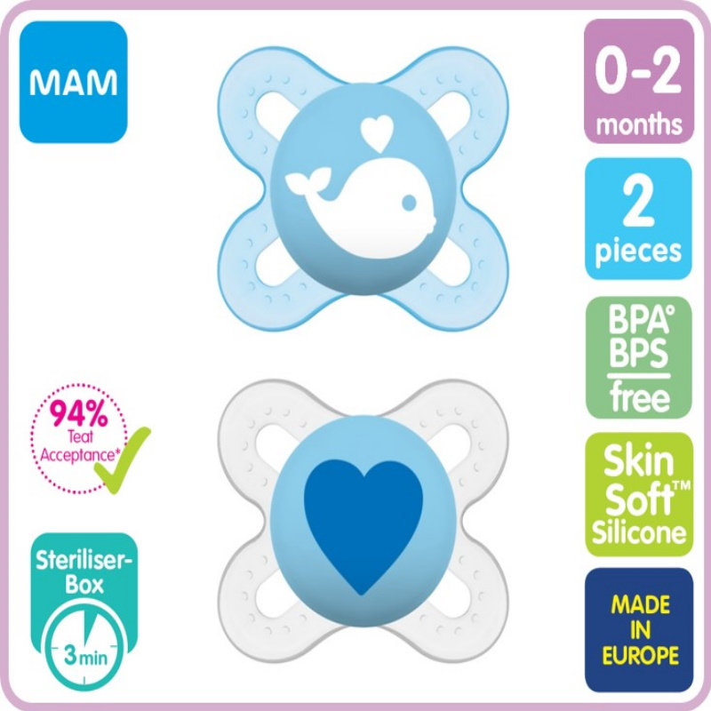 baby-fair MAM Original Pacifier 0-2months (Pack of 2) (A111)