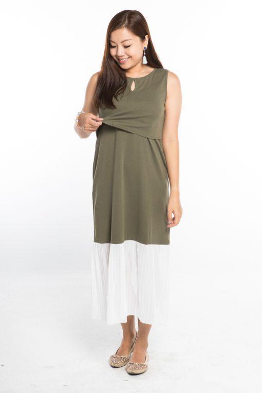 AnneeMatthew Lauren Nursing Dress - Pistachio