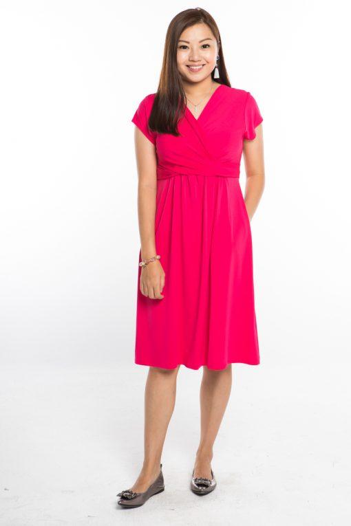 AnneeMatthew Desiree Nursing Dress - Bubblegum