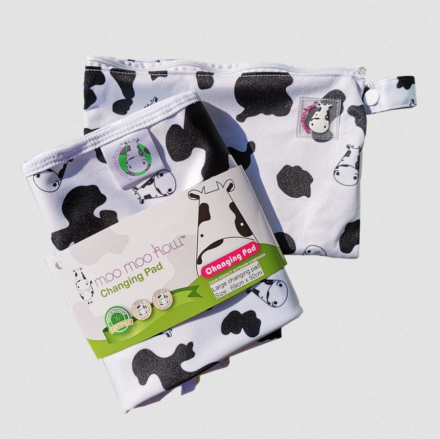baby-fair Moo Moo Kow Changing Pad - Travel Size 45 x 70cm (Assorted)