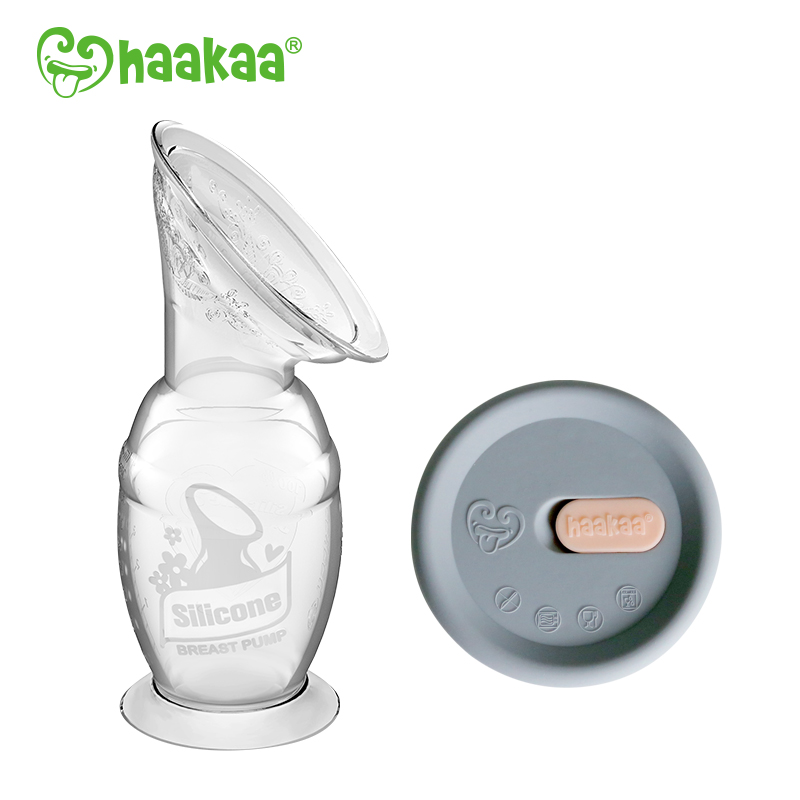 baby-fairHaakaa Silicone Breast Pump (100ml) + Cap Set