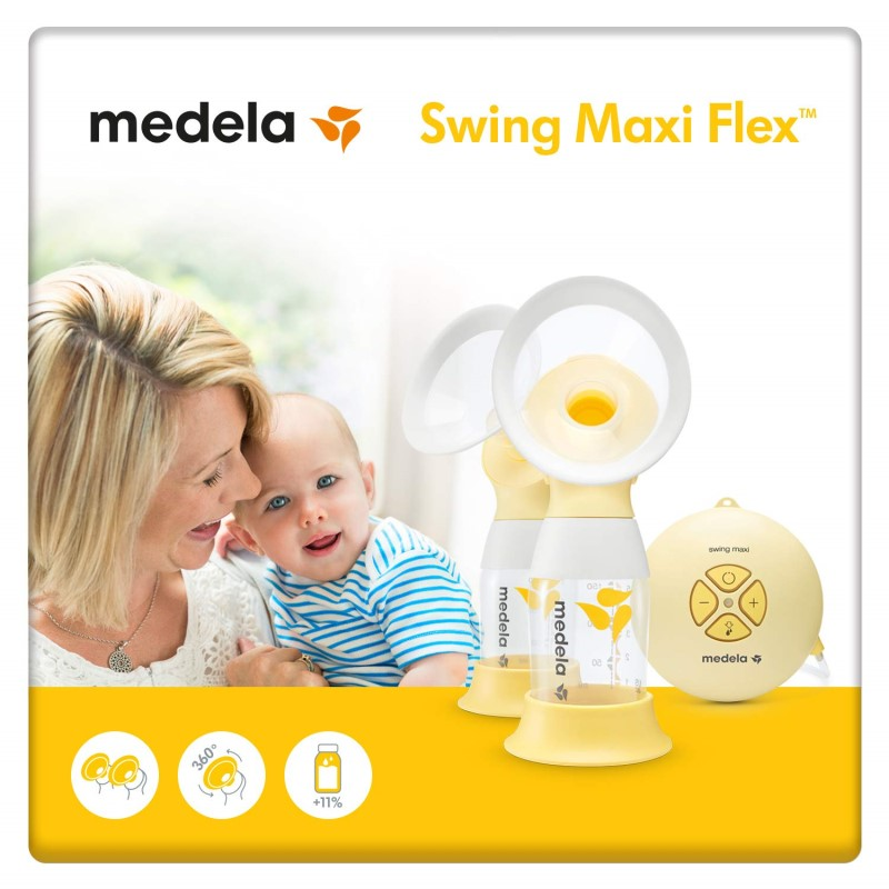 Medela Swing maxi FLEX Double Breastpump Bundle (Swing Maxi FLEX + FREE 2 Yrs Warranty + Isa Uchi Breastpump Bag + Warmer + Sterilizer & A lot More)