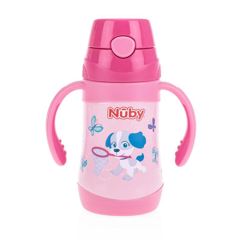 baby-fairNuby Stainless Steel Click-it Flip-It Cup 280ml