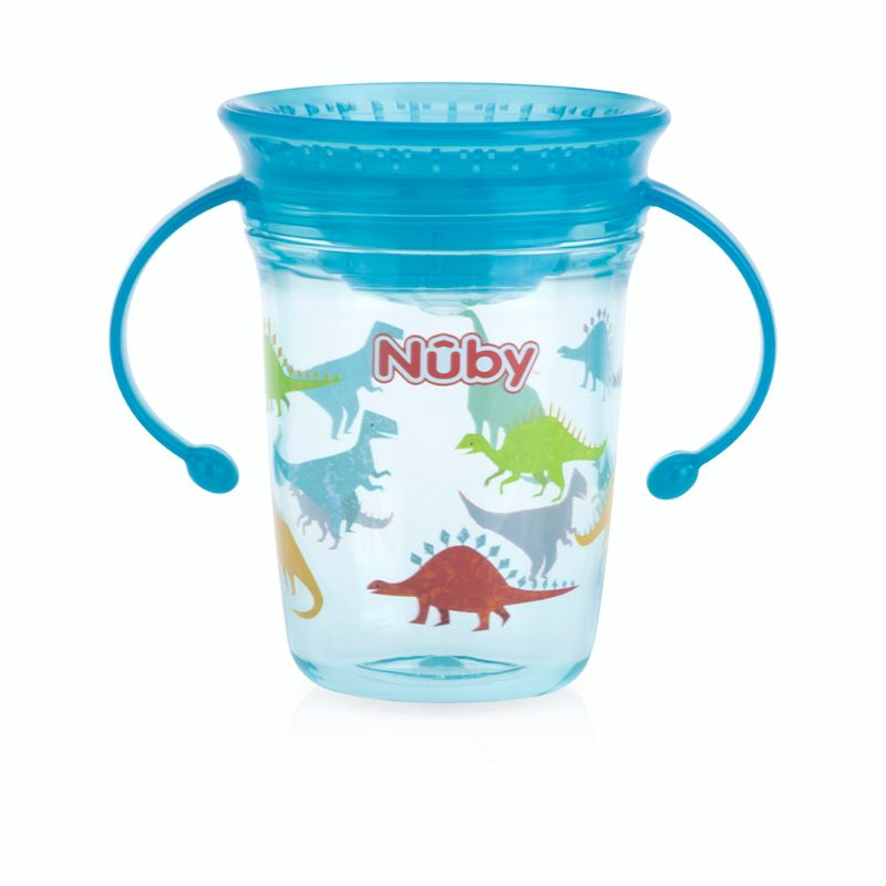 baby-fairNuby 360 Wonder Cup Tritan Printed with Twin Handles and PP Cover 240ml